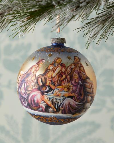 Nostalgic Family Nativity Limited Edition Glass Ball
