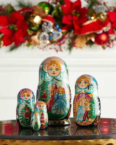 Story of Nutcracker Nesting Dolls  Set of 5