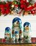 Mr. Snowman Nesting Dolls, Set of 5