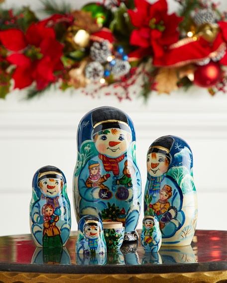 G. Debrekht Mr. Snowman Nesting Dolls, Set of