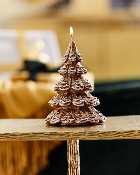 Small Gold Tree Candle