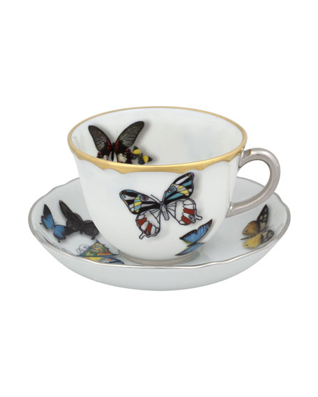 Christian Lacroix Butterfly Tea Cup & Saucer