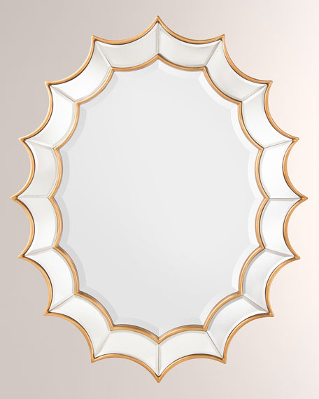 Oval Scalloped Mirror