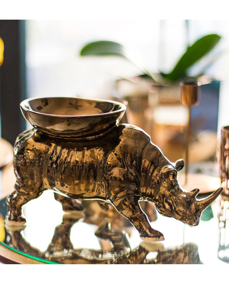 Rhino Candle Holder