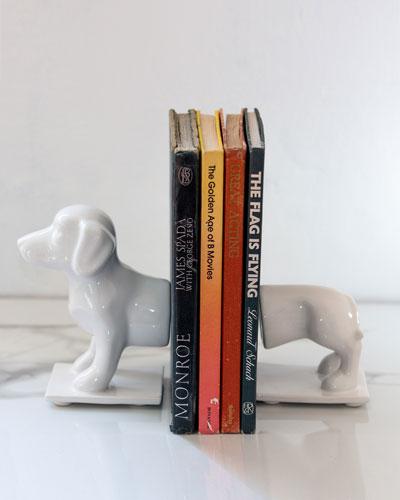 Dachshund Dog Book Ends