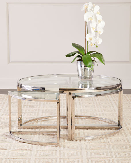 Regina Andrew Design Majestic Polished Nickel Coffee Table