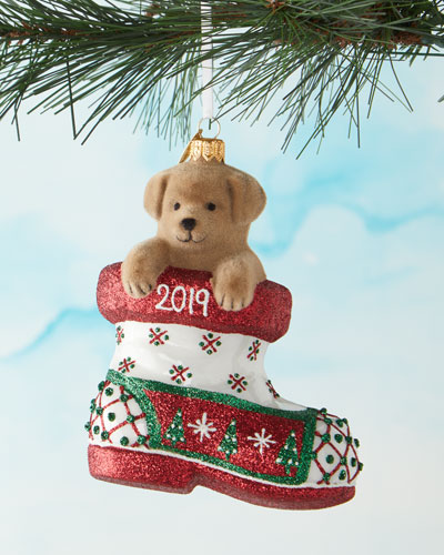 Christmas Tree Charlie in Boot 2019 Ornament