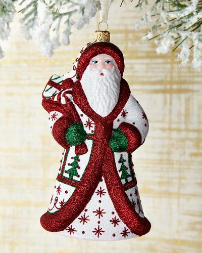 Spruce Santa Ornament