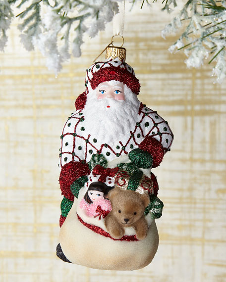 Santa Has the Goods Christmas Ornament