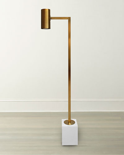 Sadie Antiqued Brass Floor Lamp