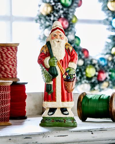 Santa w/ Ornaments Figurine