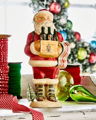Wine Santa Figurine