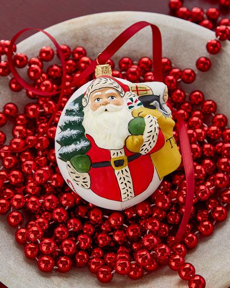 Jingle Ball Snowsuit Baby & Candies Santa Ornament