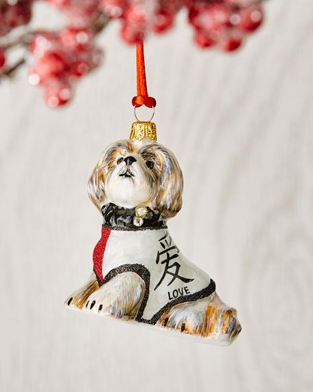 Shih Tzu in Sweater Ornament
