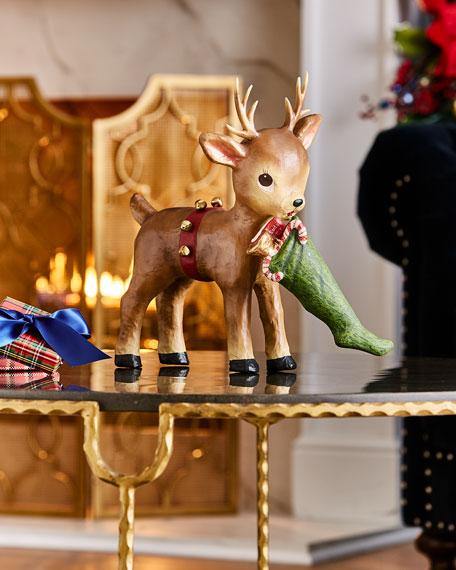 Bethany Lowe Santa's Helper Reindeer