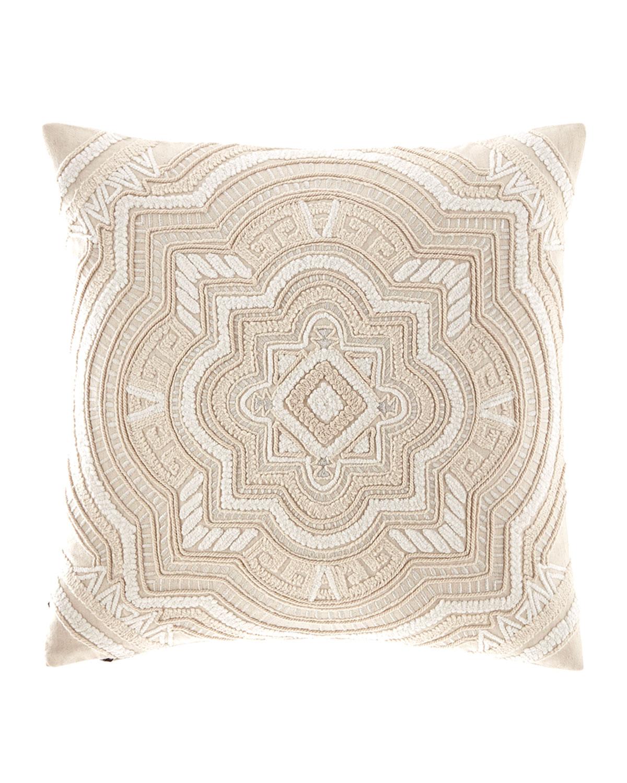 Callisto Home Multi Cord Embroidered Linen Pillow
