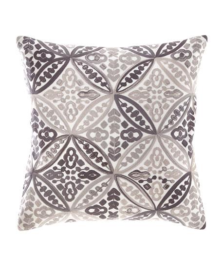 Textured Linen Geometric Pillow