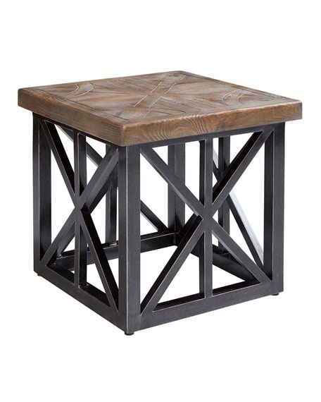 "Arch Salvage Outdoor Oliver 22"" End Table"