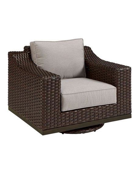 Brannon Outdoor Deep Swivel Chair