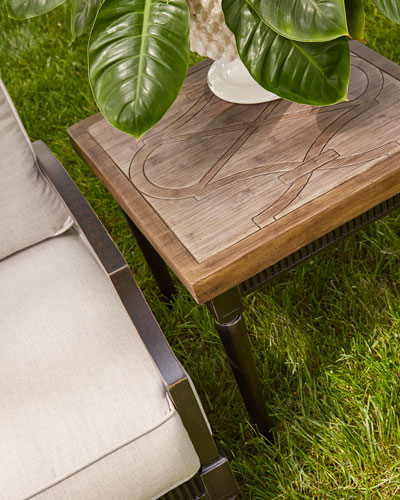 Morrissey Outdoor Leon Square Side Table