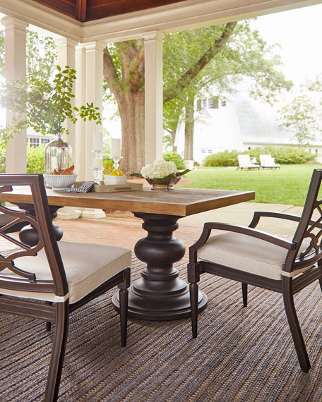 Morrissey Outdoor Phillips Armless Dining Chairs, Set of 2