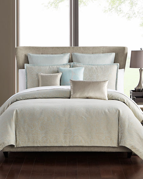 Abstract Floral 3-Piece Full/Queen Comforter Set