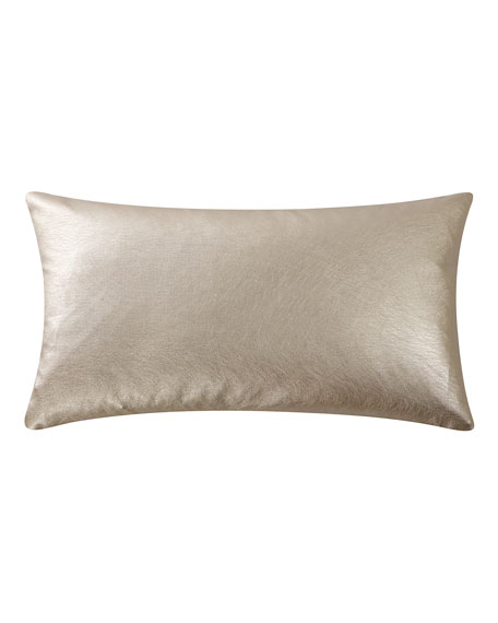 Abstract Floral Metallic Decorative Pillow