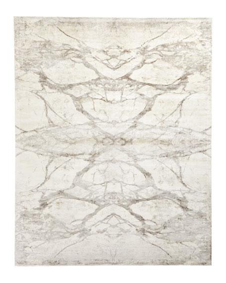 Mirror Match Marble Rug, 6' x 9'