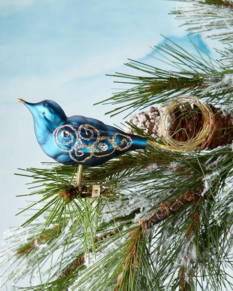 Blue Bird Clip Ornament
