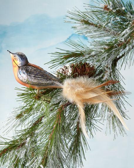 Copper Bird Clip Ornament