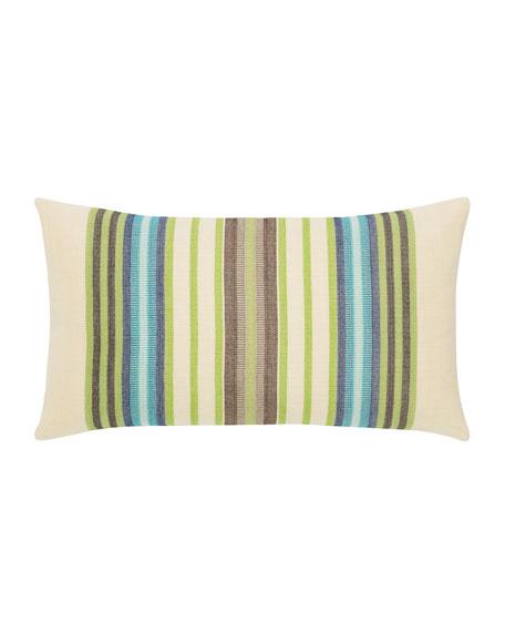 Multi-Stripe Lumbar Sunbrella Pillow