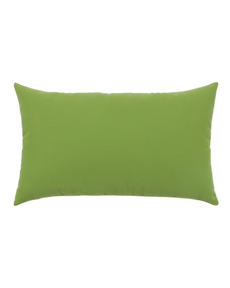 Basketweave Lumbar Sunbrella Pillow, Green