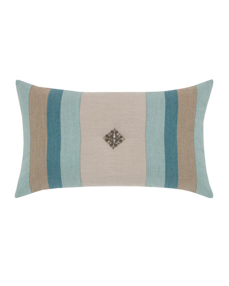 "Outdoor Colorblock Lumbar Pillow, 12"" x 20"""