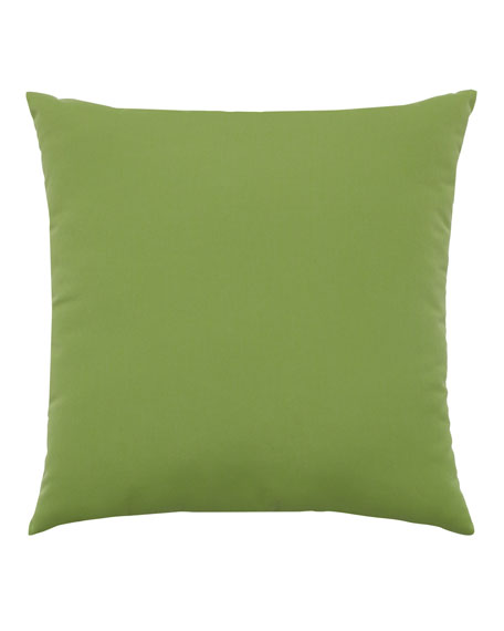 Basketweave Sunbrella Pillow, Green