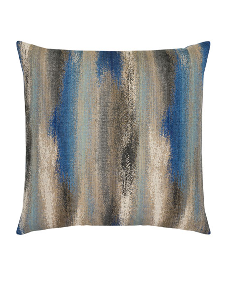 Painterly Mediterranean Sunbrella Pillow, Blue