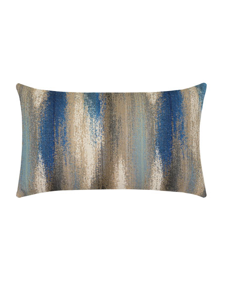 Elaine Smith Painterly Mediterranean Lumbar Sunbrella Pillow