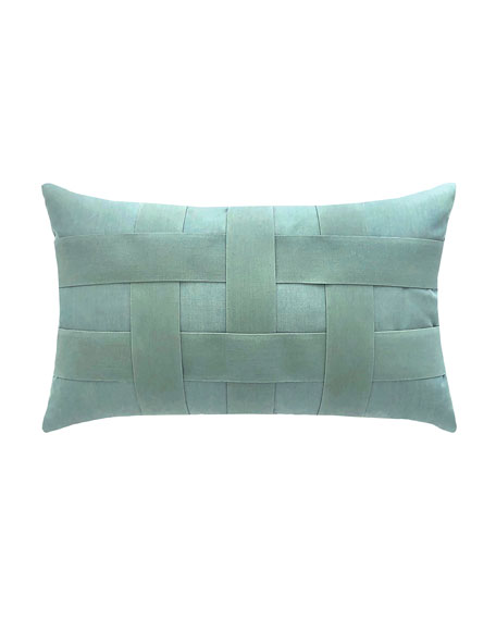 Basketweave Lumbar Sunbrella Pillow