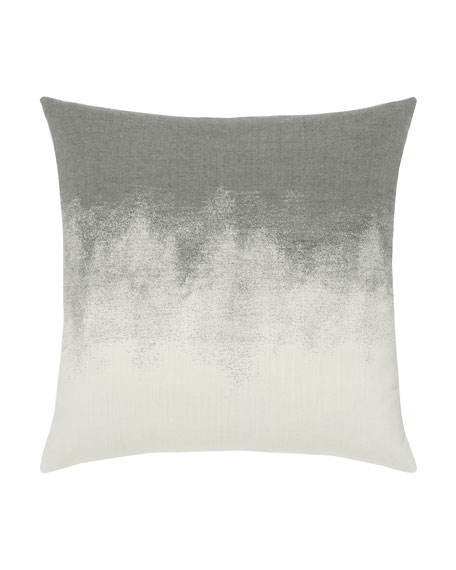 Artful Sunbrella Pillow, Charcoal