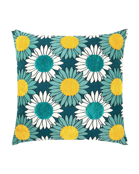 Sunflower Bloom Sunbrella Pillow