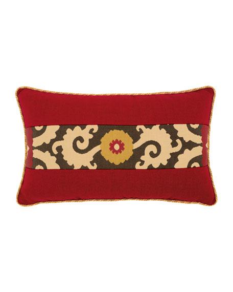 Suzani Sun Lumbar Sunbrella Pillow