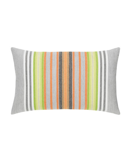 Spring Stripe Lumbar Sunbrella Pillow