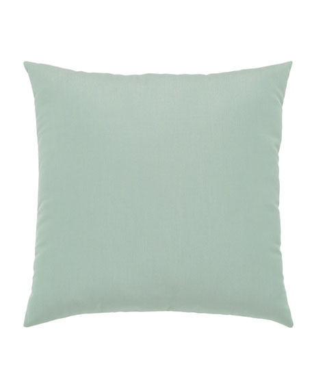 Basketweave Sunbrella Pillow, Light Blue