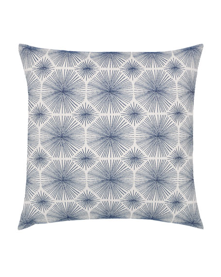 Elaine Smith Radiance Sunbrella Pillow, Indigo