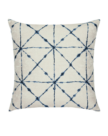 Elaine Smith Trilogy Sunbrella Pillow, Indigo