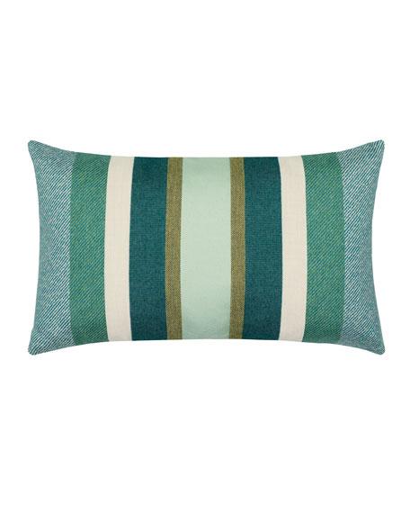 Stripe Lumbar Sunbrella Pillow