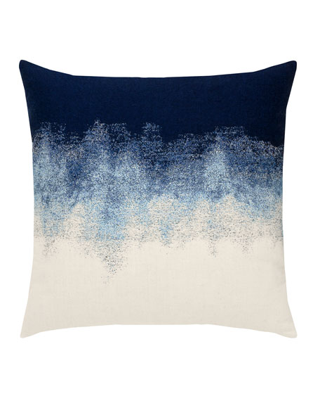 Artful Sunbrella Pillow, Dark Blue