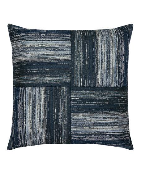 Textured Quadrant Sunbrella Pillow, Indigo