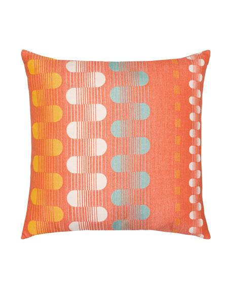Polka Stripe Sunbrella Pillow