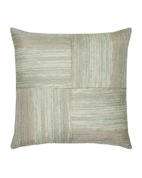 Textured Quadrant Sunbrella Pillow, Light Blue