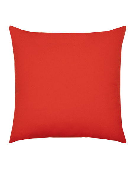 Dimension Sunbrella Pillow, Red